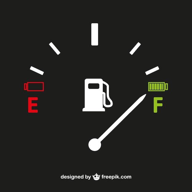Tankuhr vektor Kostenlosen Vektoren