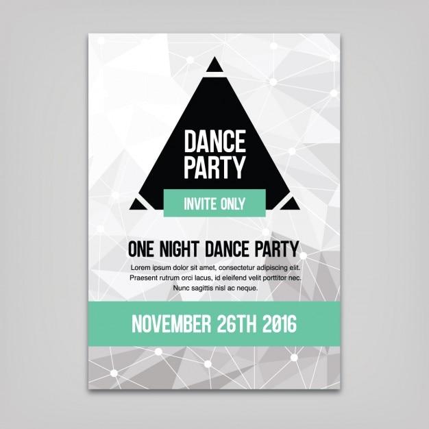 Tanz-Party-Plakat-Vorlage | Download der kostenlosen Vektor