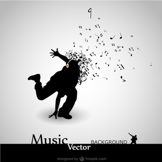 Tanzmusik-vektor-hintergrund Kostenlosen Vektoren