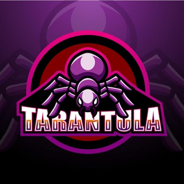 Tarantula maskottchen esport illustration Premium Vektoren