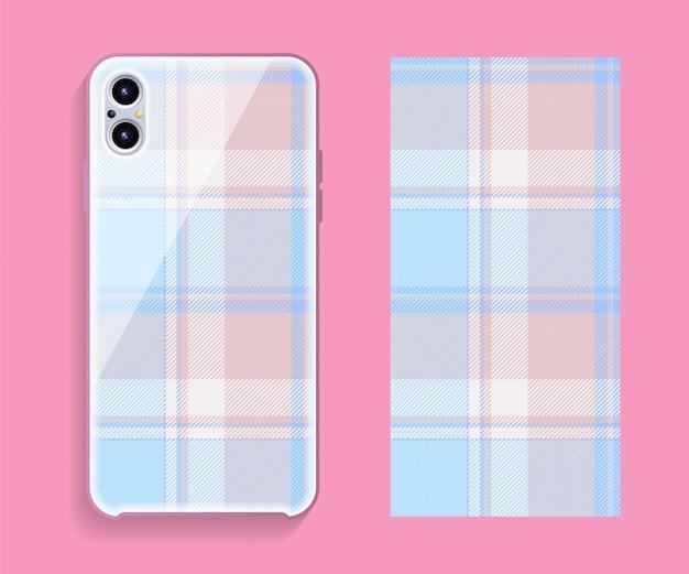 Tartan schottland smartphone cover vorlage Premium Vektoren