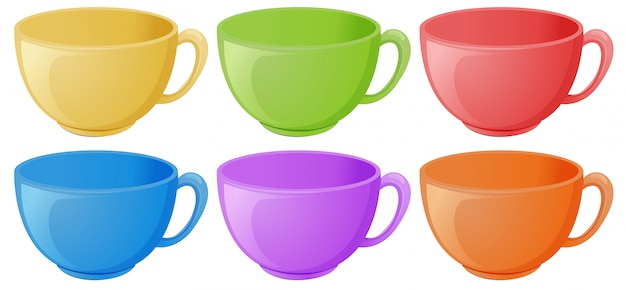 Tassen mit griff Kostenlosen Vektoren