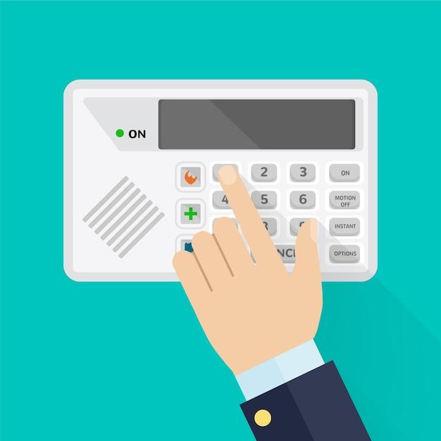 Tastatur des sicherheitssystems zum betreten des innenraums Premium Vektoren