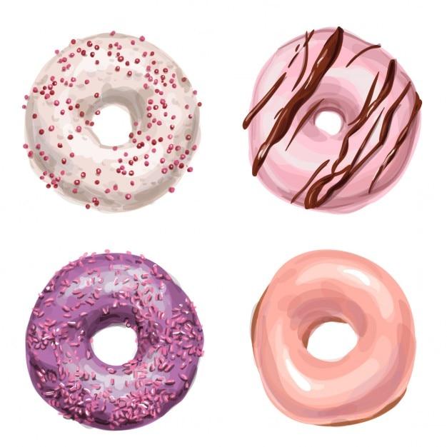 Tasty donuts Kostenlosen Vektoren