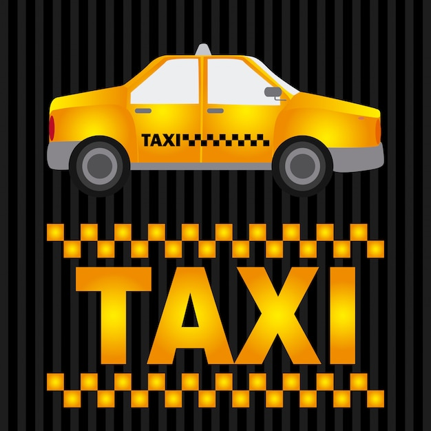 Taxi grafikdesign Kostenlosen Vektoren