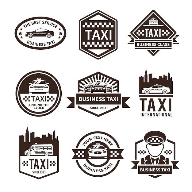 Taxi-logo-set Kostenlosen Vektoren