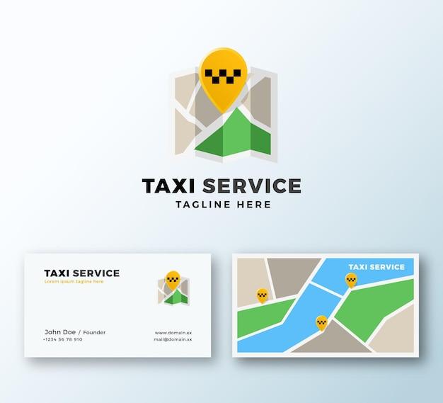 Taxi service point abstract app symbol oder logo und visitenkartenvorlage. Premium Vektoren