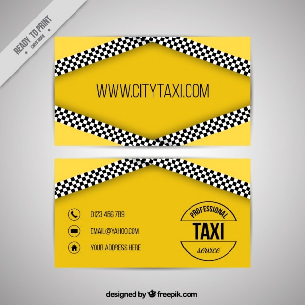 Taxi Service Visitenkarte Download Der Kostenlosen Vektor