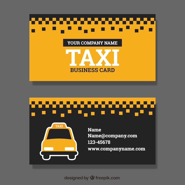 Taxi Service Visitenkarte Kostenlose Vektor