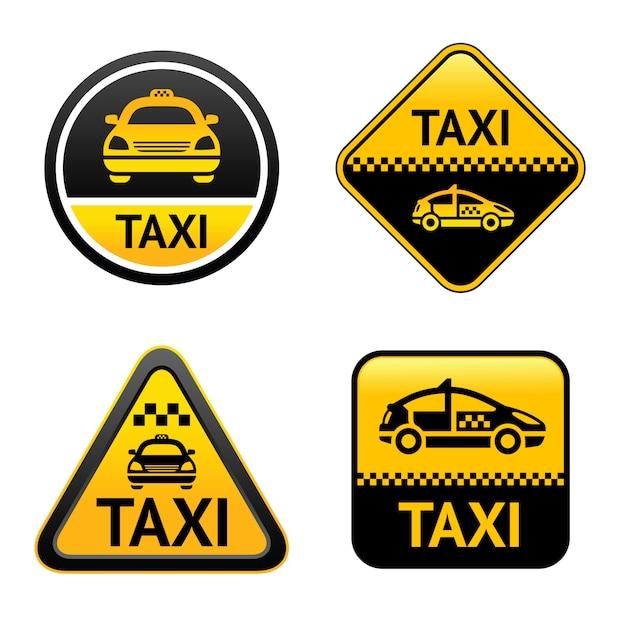 Taxi-set-tasten Premium Vektoren