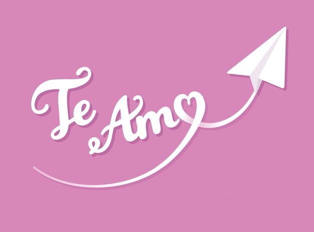 Te Amo Ich Liebe Dich Auf Spanisch Valentinstaggrusskarte