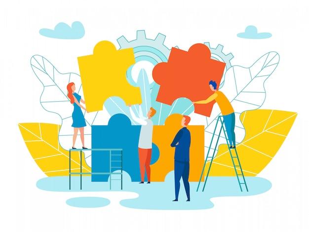 Team formation und entwicklungs-vektor-illustration Premium Vektoren