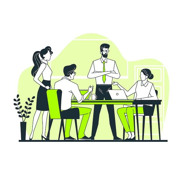 Team konzept illustration Kostenlosen Vektoren