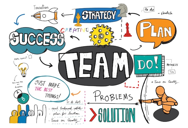 Team skizze Kostenlosen Vektoren