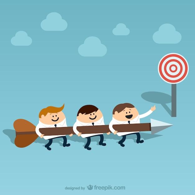 Teamarbeit Cartoon Kostenlose Vektoren