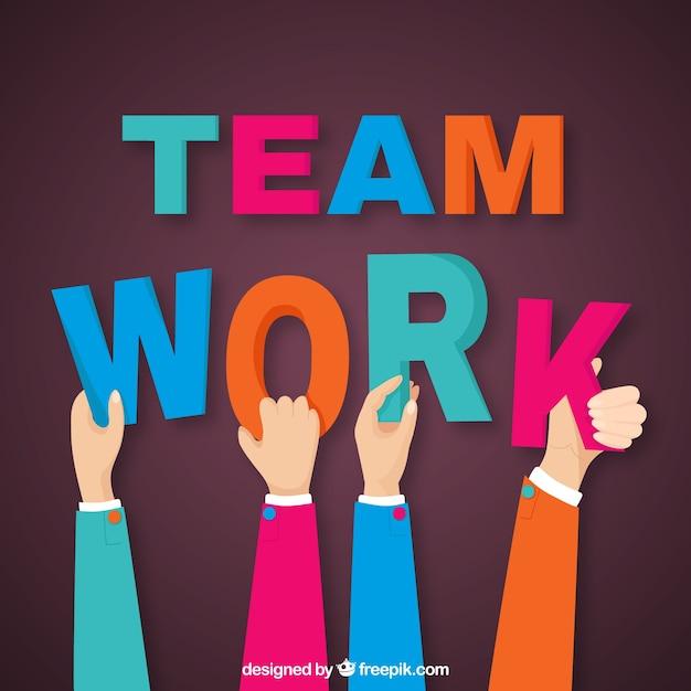 Teamarbeit, hände Kostenlosen Vektoren