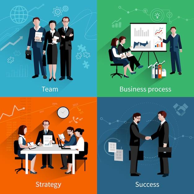 Teamwork-design-konzept Premium Vektoren