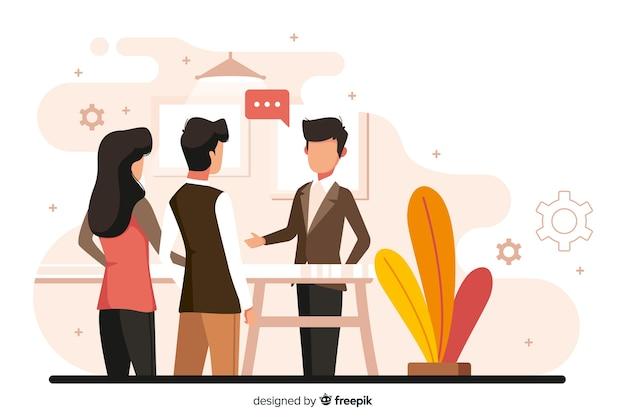 Teamwork-konzept für landingpage Kostenlosen Vektoren