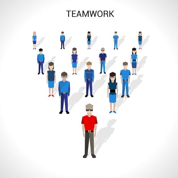 Teamwork-konzept-illustration Kostenlosen Vektoren