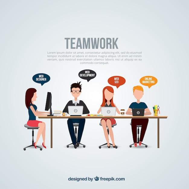 Teamwork-vorlage Kostenlosen Vektoren