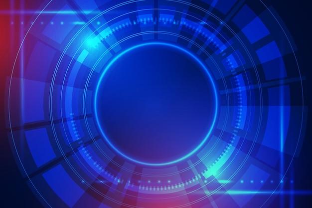 Tech modernistischer hintergrund Premium Vektoren