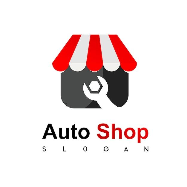 Techniker Shop Logo Premium Vektor