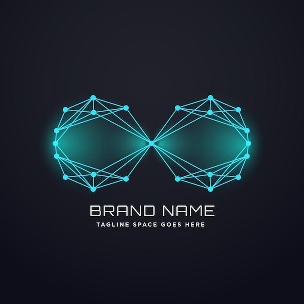 Techno digital infinity logo design konzept Kostenlosen Vektoren