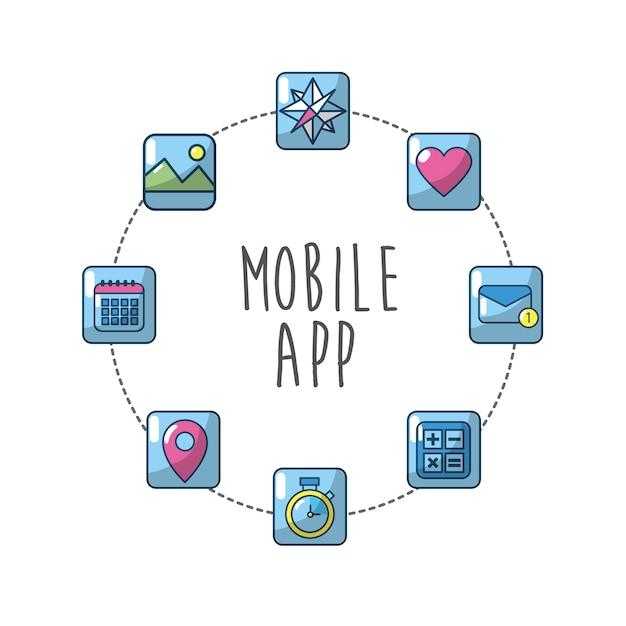 Technologie apps verbindung medienserver Premium Vektoren