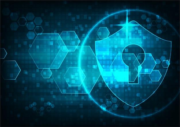 Technologie cyber-sicherheit Premium Vektoren