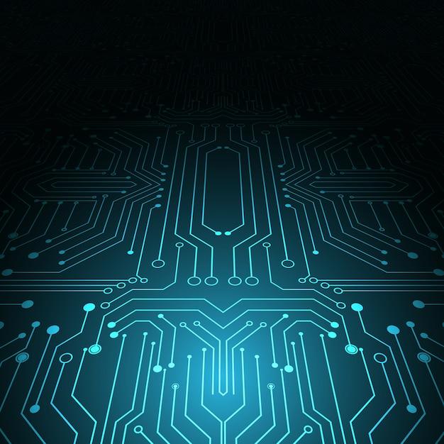 Technologie geometrischen hintergrund Premium Vektoren
