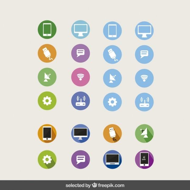 Technologie-ikonen-sammlung Kostenlosen Vektoren