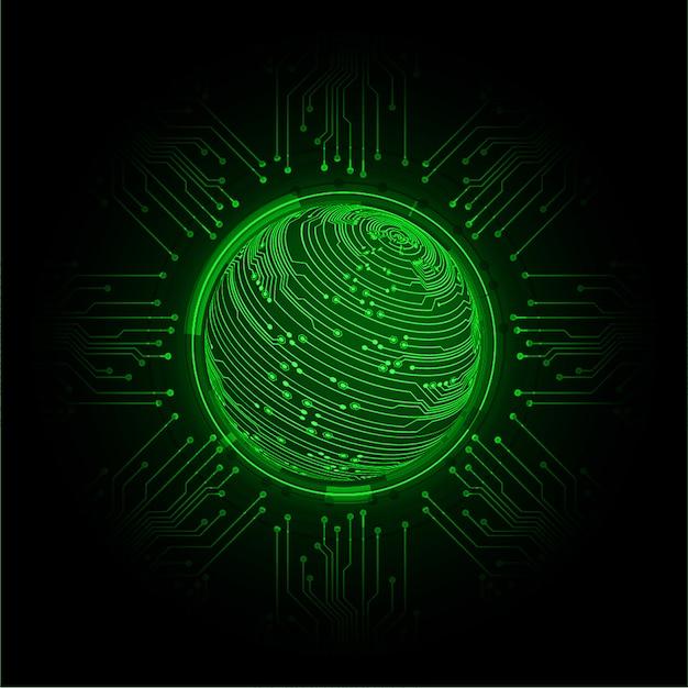 Technologie-konzepthintergrund der blauen weltcyberstromkreiszukunft Premium Vektoren