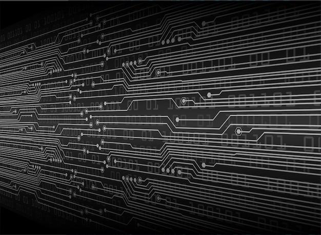 Technologie-konzepthintergrund des schwarzen cyberstromkreises zukünftiger Premium Vektoren