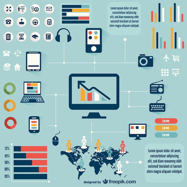 Technologie kostenlos infografik Kostenlosen Vektoren