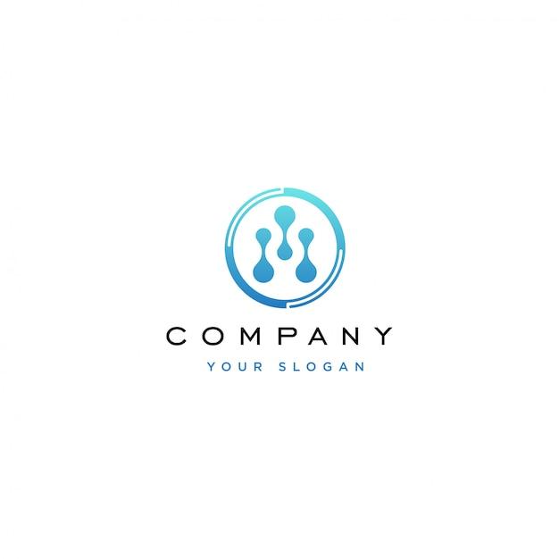 Technologie-logo-design Premium Vektoren