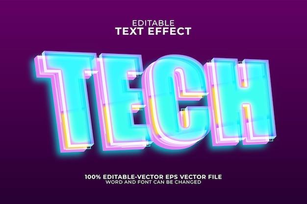 Technologie-texteffektvorlage Premium Vektoren