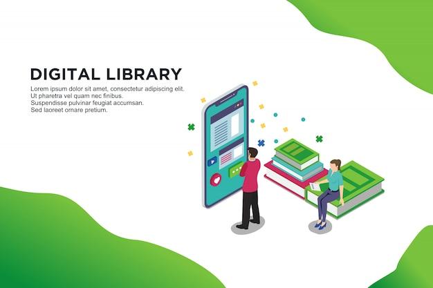 Technologie und literatur Premium Vektoren