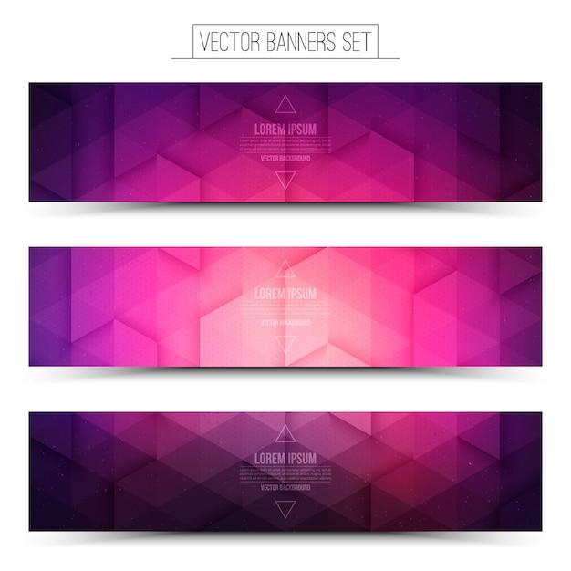 Technologie web banner set Premium Vektoren