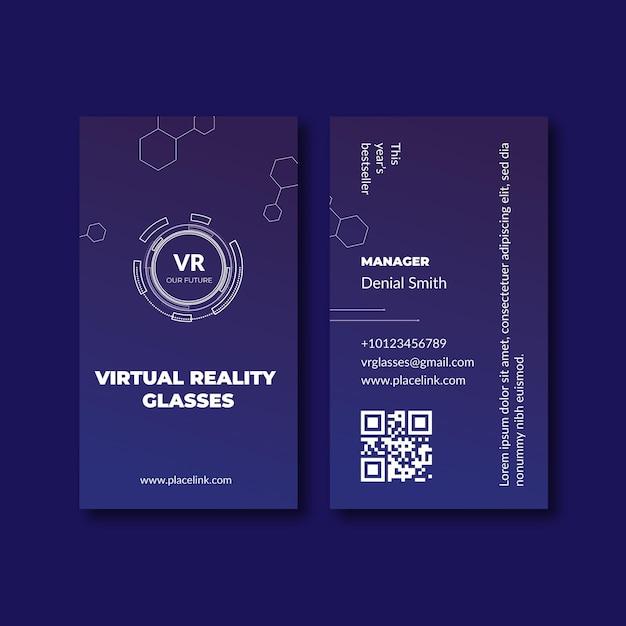 Technologie & zukünftige vertikale visitenkartenvorlage Kostenlosen Vektoren