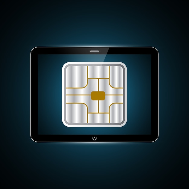 Technologie Zukunft Tablet Karten Chip Download Der