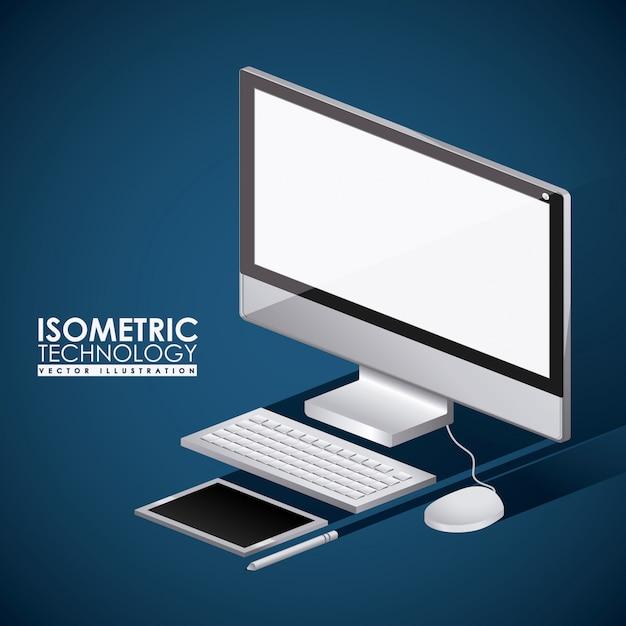 Technologiedesign, vektorillustration. Premium Vektoren