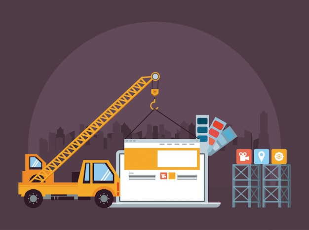 Technologiegerätlaptop-wartungskarikatur Kostenlosen Vektoren