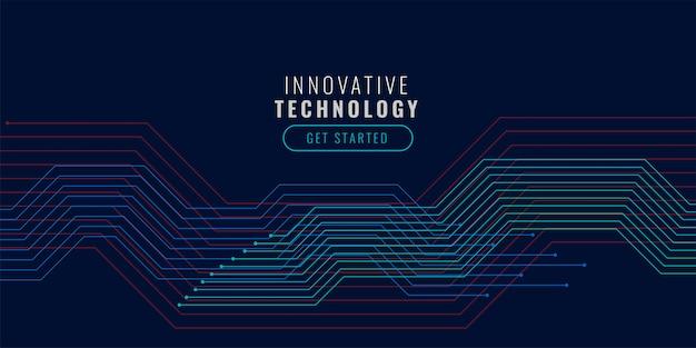 Technologiehintergrund mit schaltplan Kostenlosen Vektoren