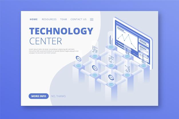 Technologiekonzept vorlage landing page Kostenlosen Vektoren