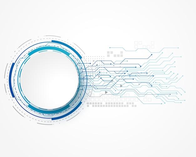 Technologiekonzepthintergrund mit maschendraht- und -textraum Kostenlosen Vektoren