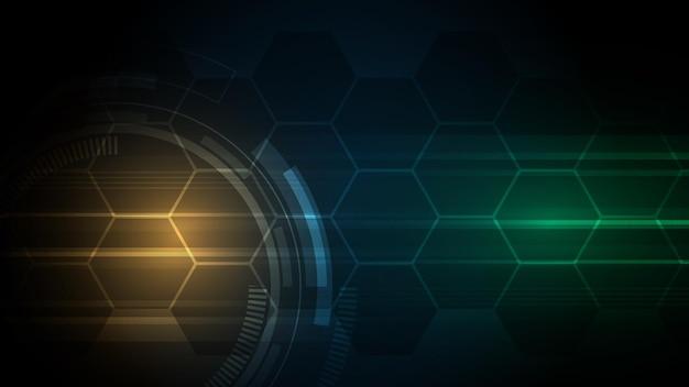 Technologischer hintergrund hi-tech-kommunikationskonzept Premium Vektoren