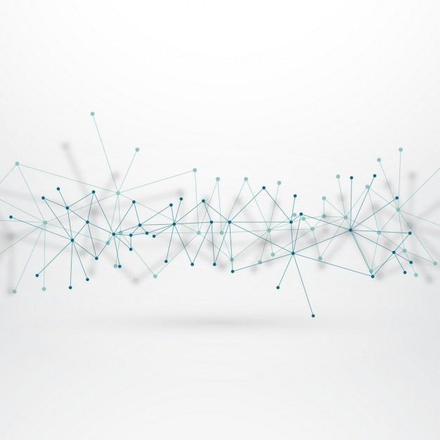 Technologischer hintergrund mit angeschlossenen leitungen Kostenlosen Vektoren