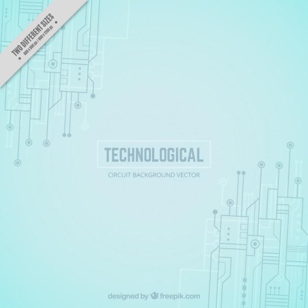 Technologischer Hintergrund mit Schaltungen und Verbindungen ...