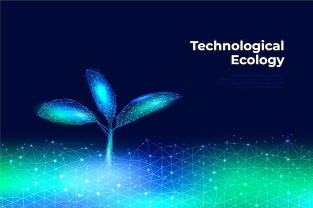 Technologisches ökologiekonzept Kostenlosen Vektoren