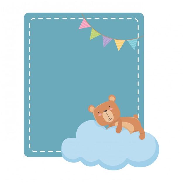 Teddybär-cartoon Premium Vektoren